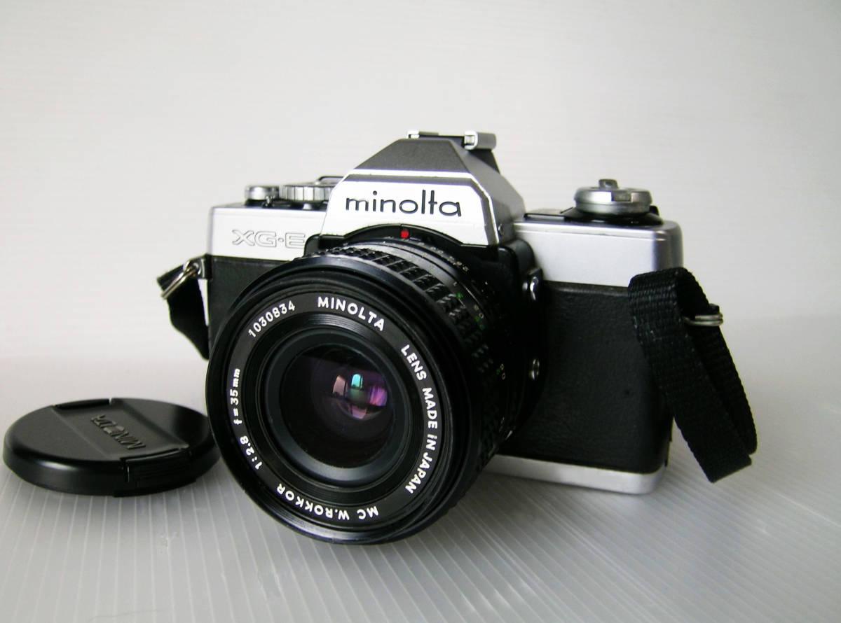 ミノルタ MINOLTA XG-E  35mmF2.8 単焦点ワイドレンズ付き