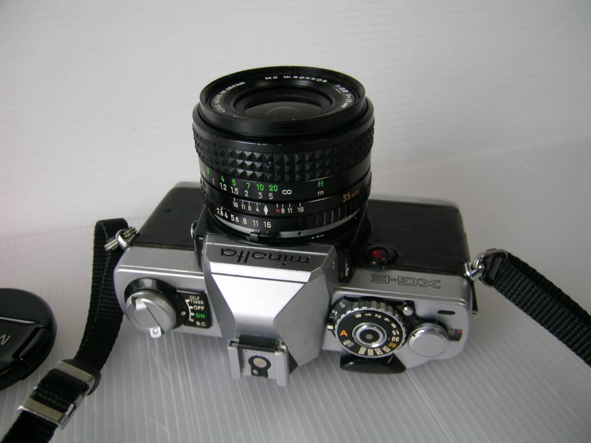ミノルタ MINOLTA XG-E  35mmF2.8 単焦点ワイドレンズ付き_画像4