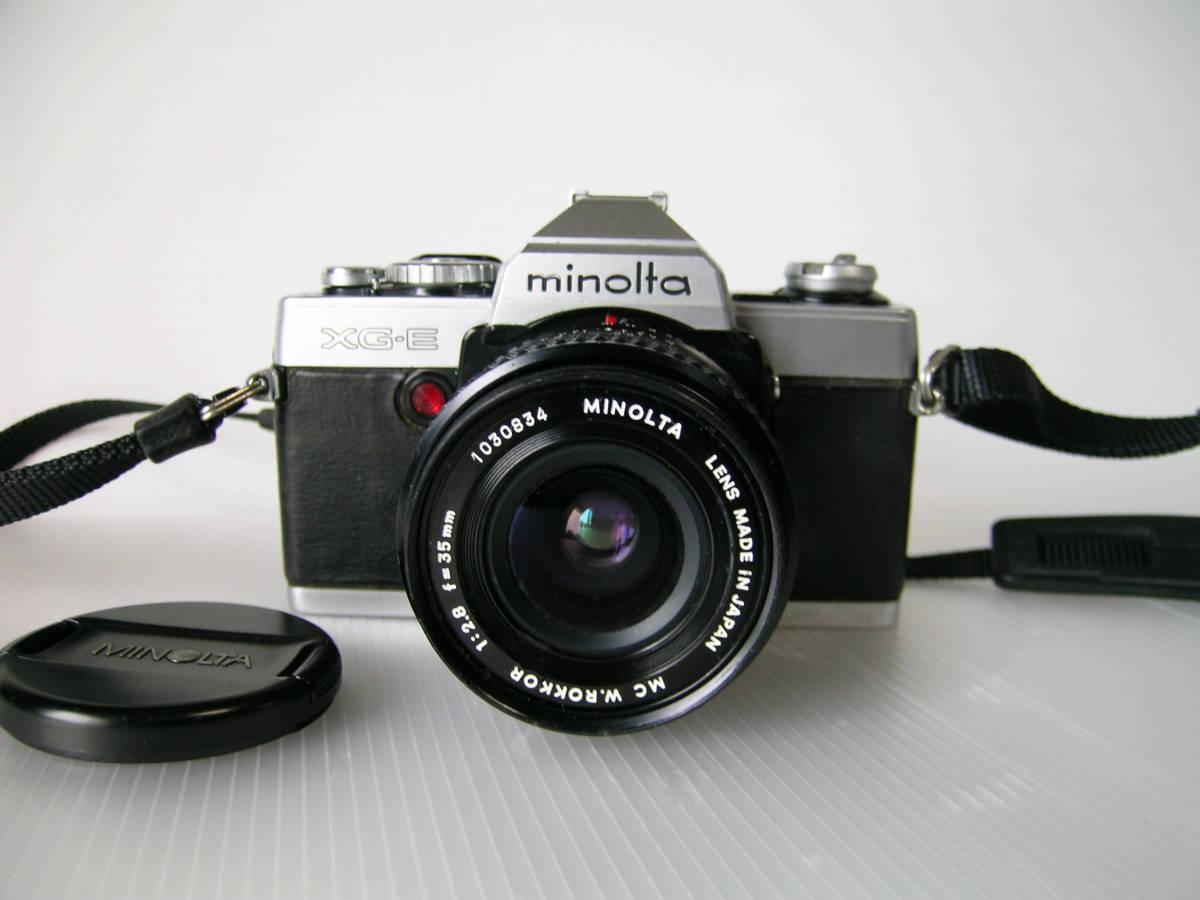 ミノルタ MINOLTA XG-E  35mmF2.8 単焦点ワイドレンズ付き_画像2