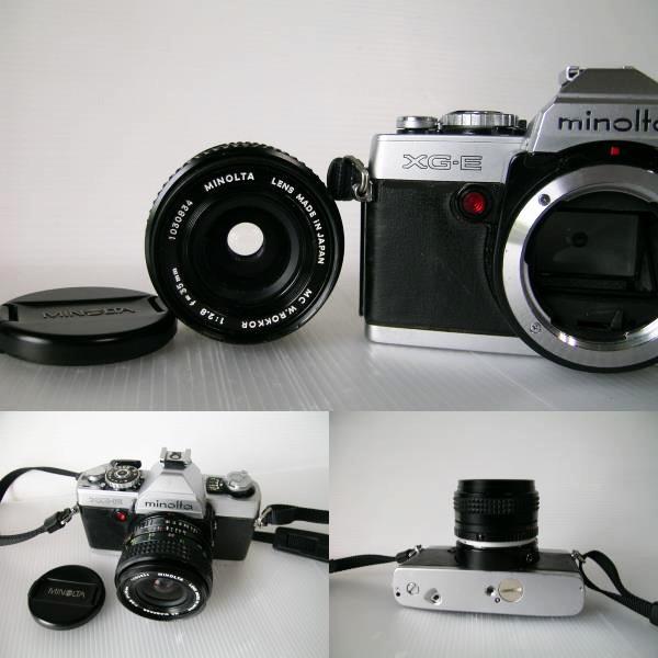 ミノルタ MINOLTA XG-E  35mmF2.8 単焦点ワイドレンズ付き_画像5