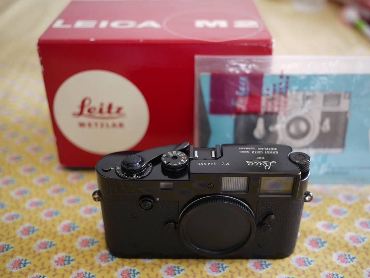 Leica M2 ブラックペイント 元箱 取扱説明書 1円スタート ライカ カメラ ボディ
