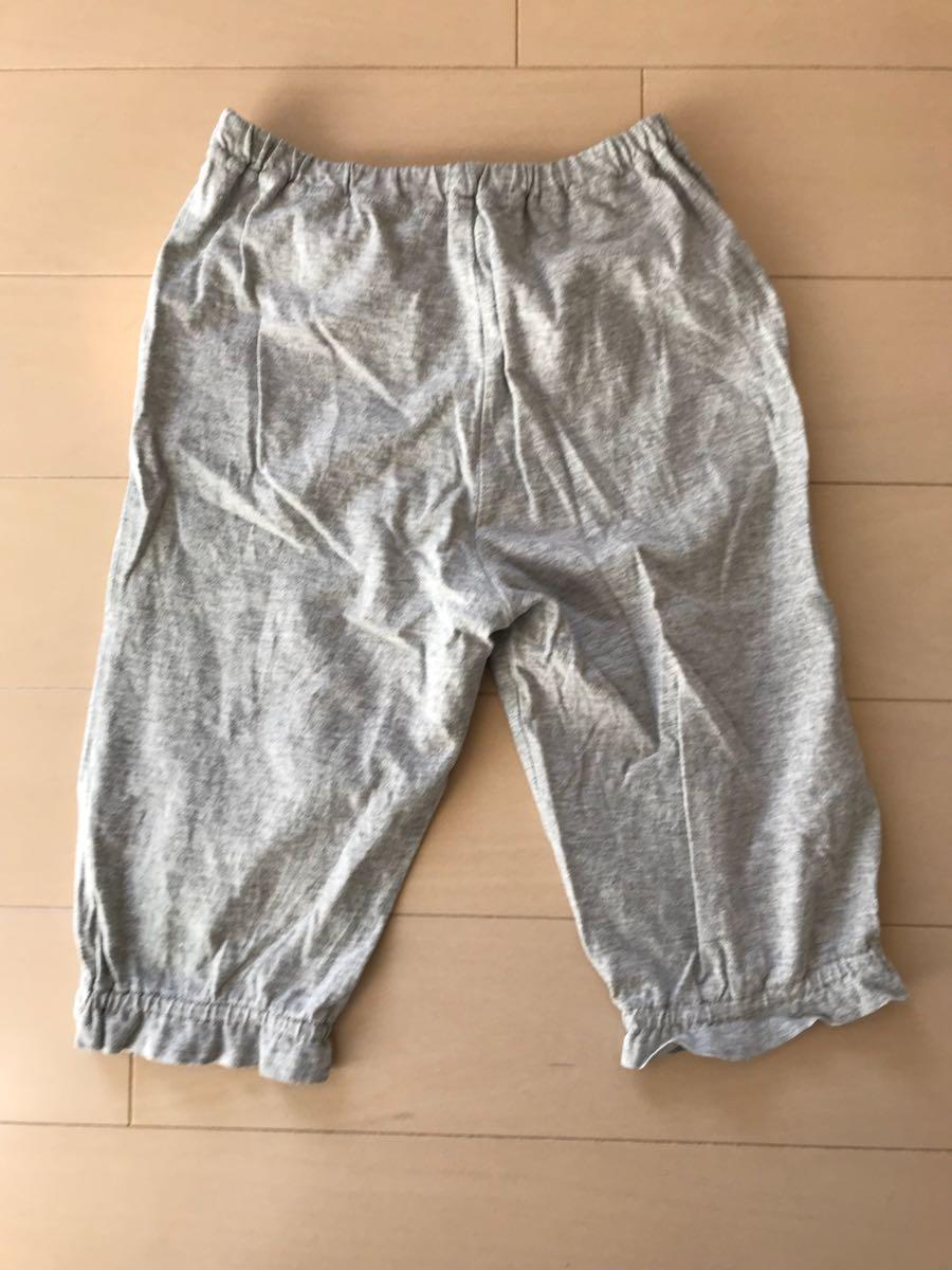 □ MUJI 無印良品 良品計画 七分袖 七分丈 パジャマ ルームウェア ナイトウェア 110_画像4