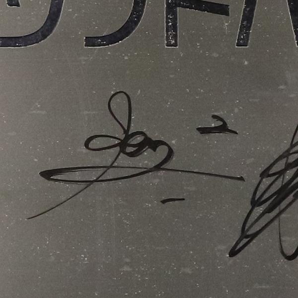 [チャリティ]福岡ソフトバンクホークス [さよなら西戸崎寮企画] 施設入口看板A(施設名)(直筆サイン:柳田、松田、今宮、甲斐選手)_画像3