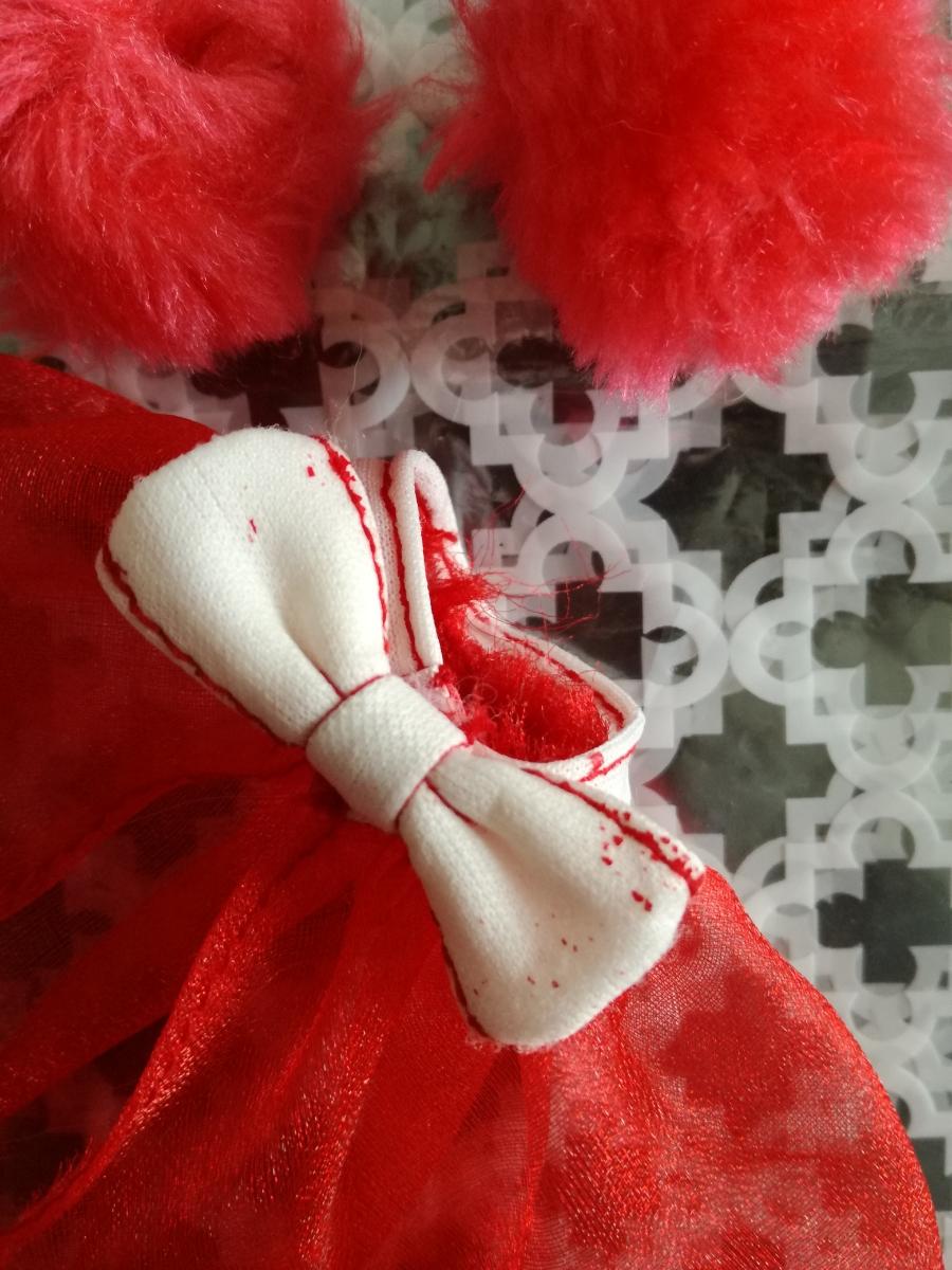 タカラ 人形用 アイドル リボン付きボリュームオーガンジースカート ファーブレスレットリカちゃん ジェニー バービー 1/6ドール_画像2