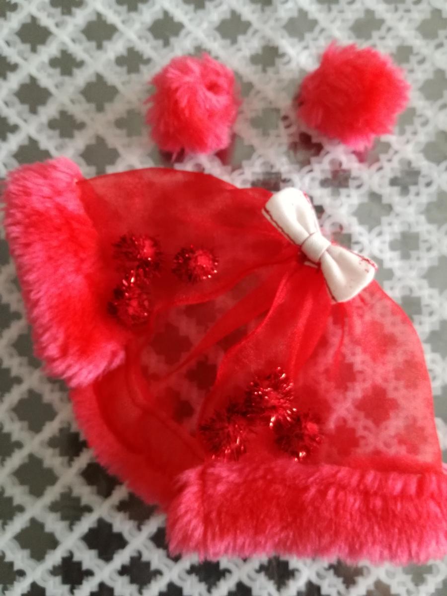 タカラ 人形用 アイドル リボン付きボリュームオーガンジースカート ファーブレスレットリカちゃん ジェニー バービー 1/6ドール_画像1