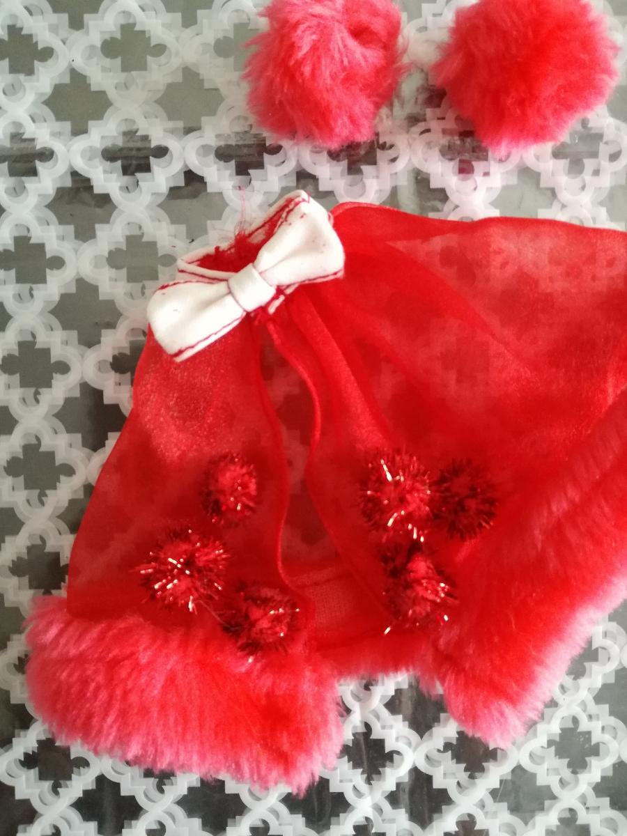 タカラ 人形用 アイドル リボン付きボリュームオーガンジースカート ファーブレスレットリカちゃん ジェニー バービー 1/6ドール_画像4