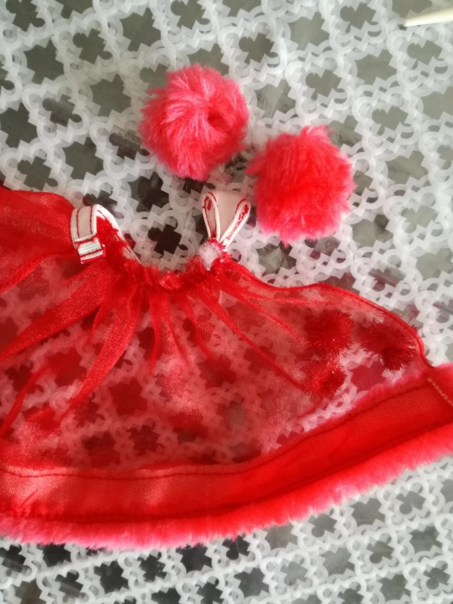 タカラ 人形用 アイドル リボン付きボリュームオーガンジースカート ファーブレスレットリカちゃん ジェニー バービー 1/6ドール_画像3