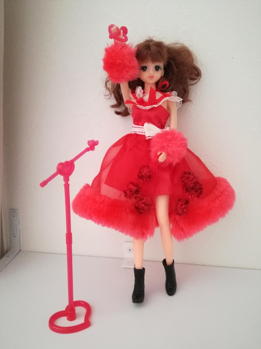 タカラ 人形用 アイドル リボン付きボリュームオーガンジースカート ファーブレスレットリカちゃん ジェニー バービー 1/6ドール_画像6