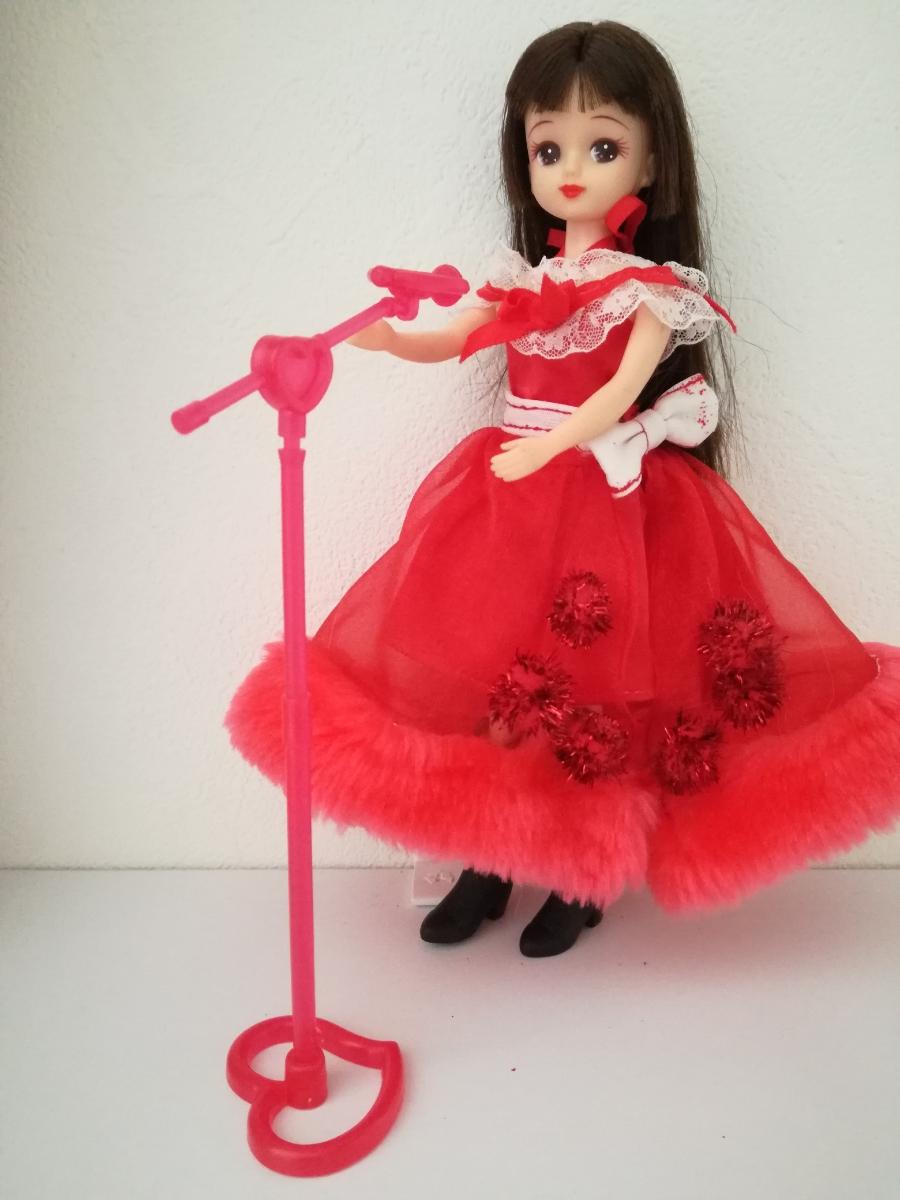 タカラ 人形用 アイドル リボン付きボリュームオーガンジースカート ファーブレスレットリカちゃん ジェニー バービー 1/6ドール_画像5