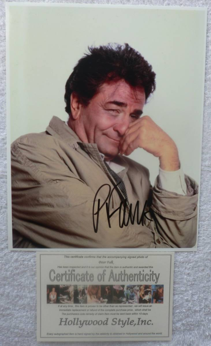 Peter * Fork ..ko long bo# certificate # beautiful goods * autograph autograph attaching photograph