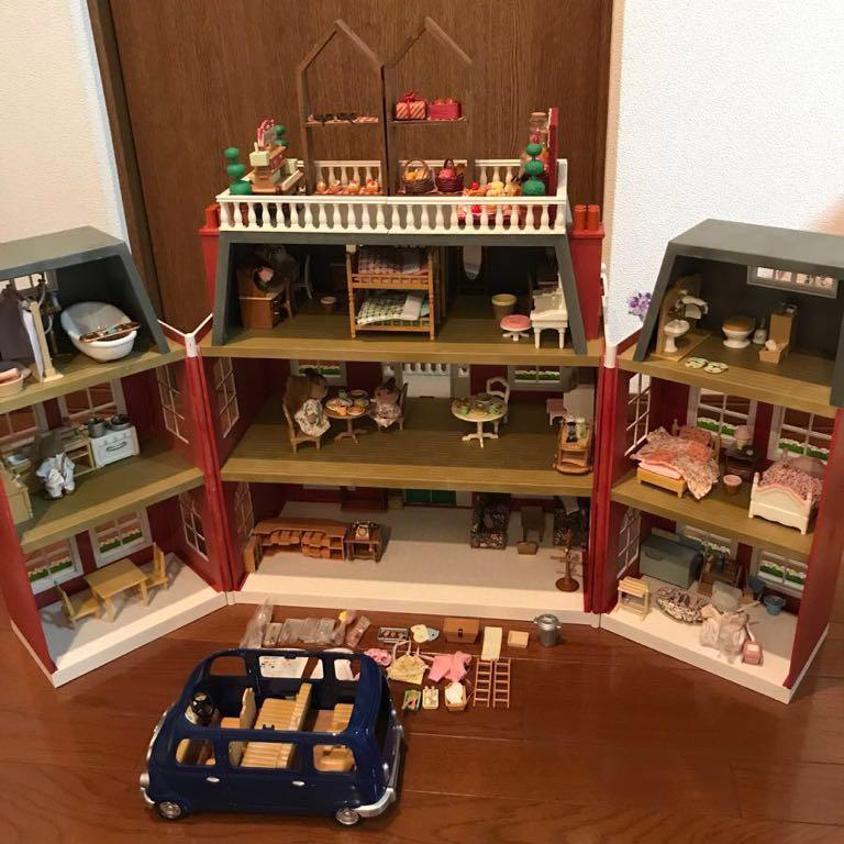 シルバニアファミリー リージェンシーホテル・グランドホテル 海外 UK レア 他、家具 人形 車 多数商品あり
