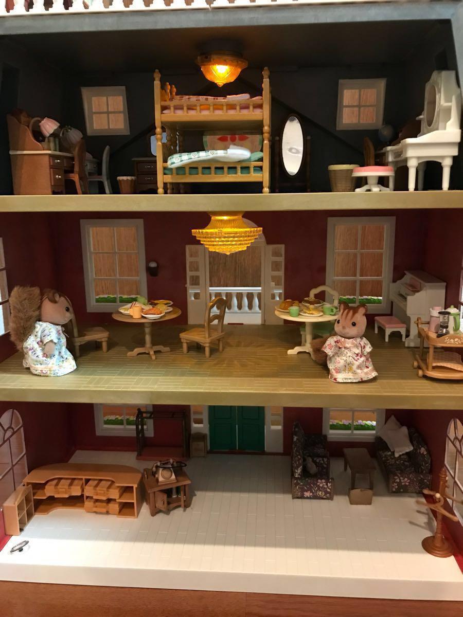 シルバニアファミリー リージェンシーホテル・グランドホテル 海外 UK レア 他、家具 人形 車 多数商品あり_画像5