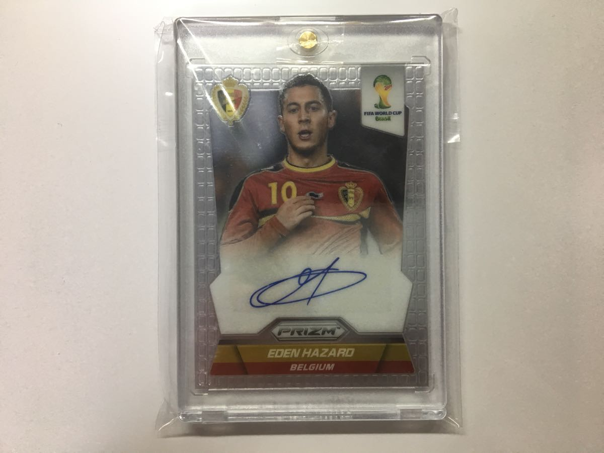 2014 Panini Prizm World Cup Signature 【 Eden Hazard / エデン アザール 】 Belgium ベルギー Autograph 直筆サインカード b