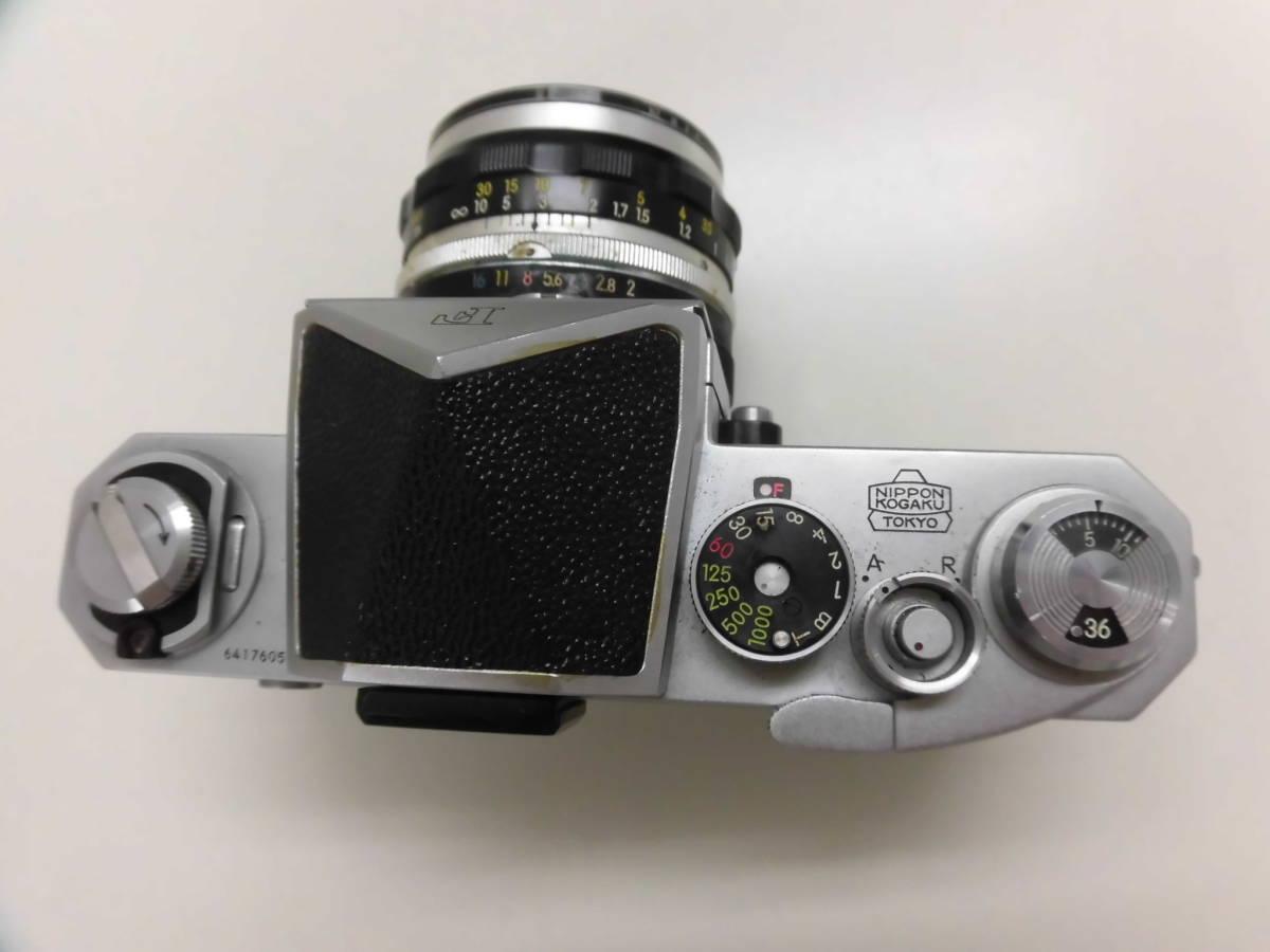 Nikon/ニコン F (No.6417605) カメラ NIKKOR-S Auto 1:2 f=5cm (No.533517) ケース付き ジャンク扱い S_画像3