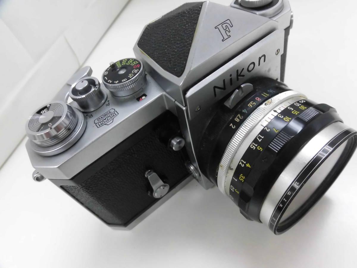 Nikon/ニコン F (No.6417605) カメラ NIKKOR-S Auto 1:2 f=5cm (No.533517) ケース付き ジャンク扱い S_画像7