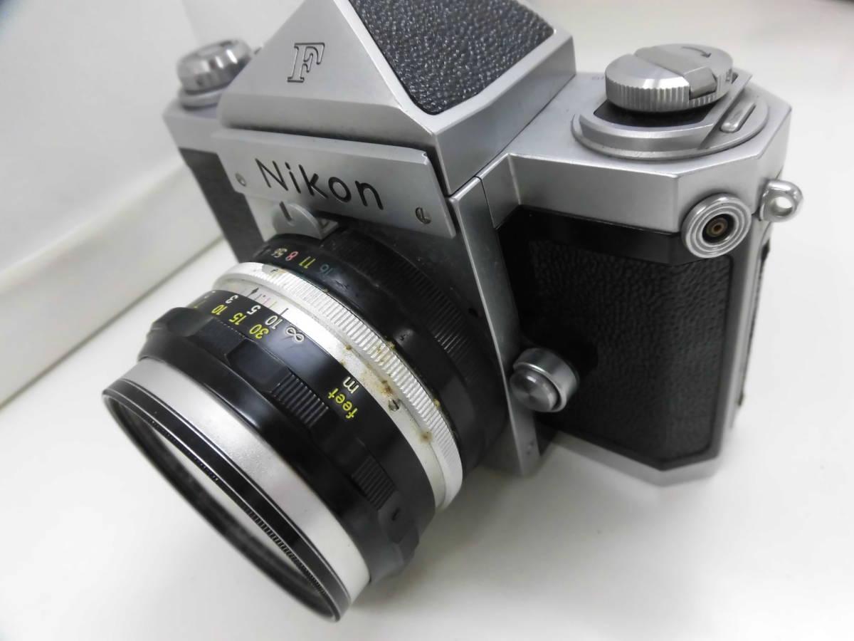 Nikon/ニコン F (No.6417605) カメラ NIKKOR-S Auto 1:2 f=5cm (No.533517) ケース付き ジャンク扱い S_画像8