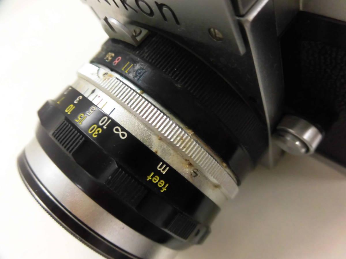 Nikon/ニコン F (No.6417605) カメラ NIKKOR-S Auto 1:2 f=5cm (No.533517) ケース付き ジャンク扱い S_画像9