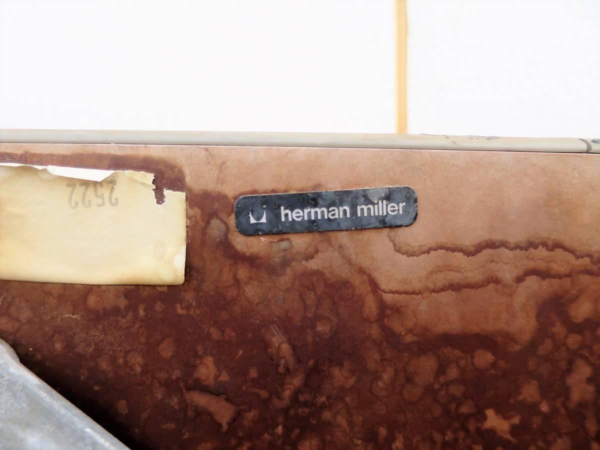 ビンテージ herman miller社製 スクエアサイドテーブル 白 US ヴィンテージ キャスター 正方形 イームズ ハーマンミラー ミニテーブル_画像10