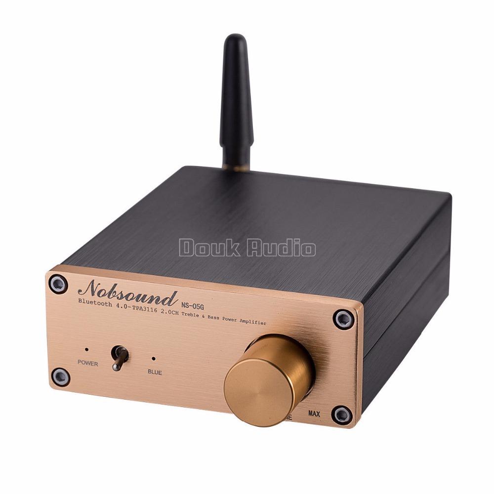 2018新Nobsound 100ワットのBluetooth 4.0ミニハイファイTPA3116パワーアンプデジタルオーディオステレオアンプ_画像2