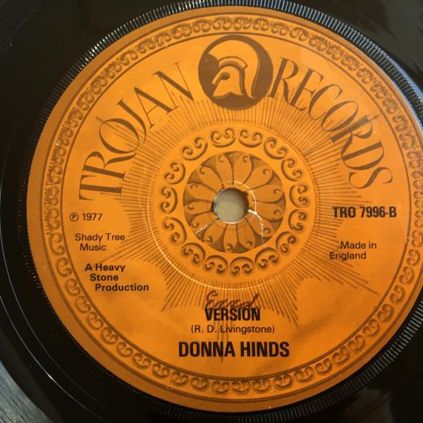 ★Donna Hinds/Run Away Pet★アーリーLOVERS ROCK!_画像2