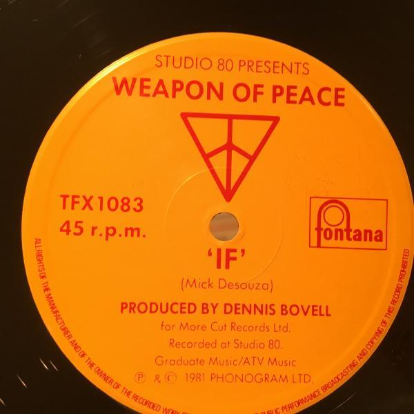 ★Weapon Of Peace/If★メロウLOVERS ROCKクラシック!_画像2