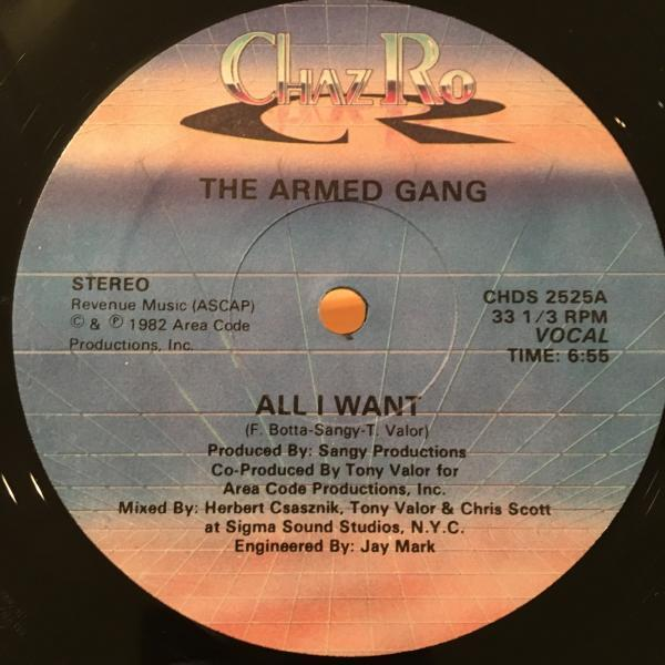 ☆The Armed Gang/All I Want☆ITALO BOOGIE名作!_画像1