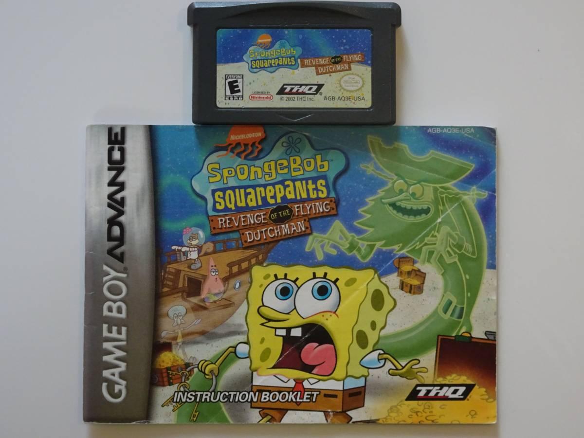 海外GAB スポンジボブ SpongeBob Revenge of the Flying Dutchman説明書付き 端子清掃済 動作Ok 国内未発売