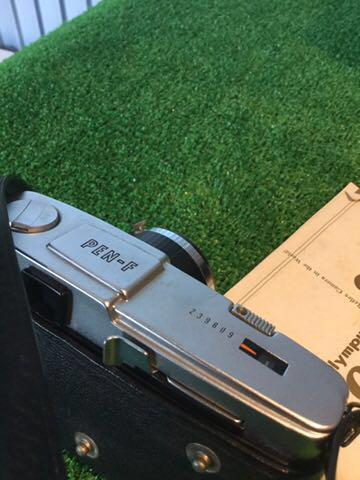 希少1円~ OLYMPUS オリンパス PEN-F Olympus F.Zuiko AUTO S 1:1.8 f38mm カメラ 元箱 専用ケース付 60サイズ_画像3