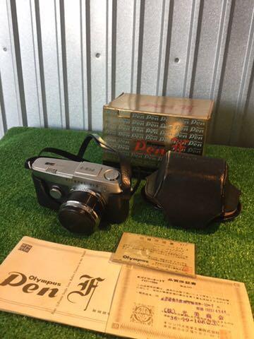 希少1円~ OLYMPUS オリンパス PEN-F Olympus F.Zuiko AUTO S 1:1.8 f38mm カメラ 元箱 専用ケース付 60サイズ