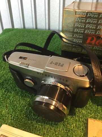 希少1円~ OLYMPUS オリンパス PEN-F Olympus F.Zuiko AUTO S 1:1.8 f38mm カメラ 元箱 専用ケース付 60サイズ_画像2
