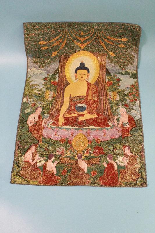 友人館蔵 稀少 金絲針織 古仏像 唐 文房置物 希少珍品