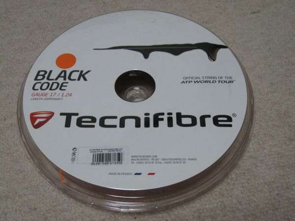☆ テクニファイバー ブラックコード ファイヤ 1.24mm ロールガット 【TECNIFIBRE BLACK CODE FIRE 124】 ☆_画像1
