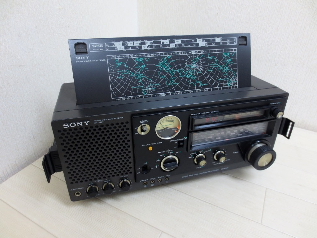 SONY ソニー マルチバンドレシーバー BLCラジオ ICF-6700 動作良好_画像3