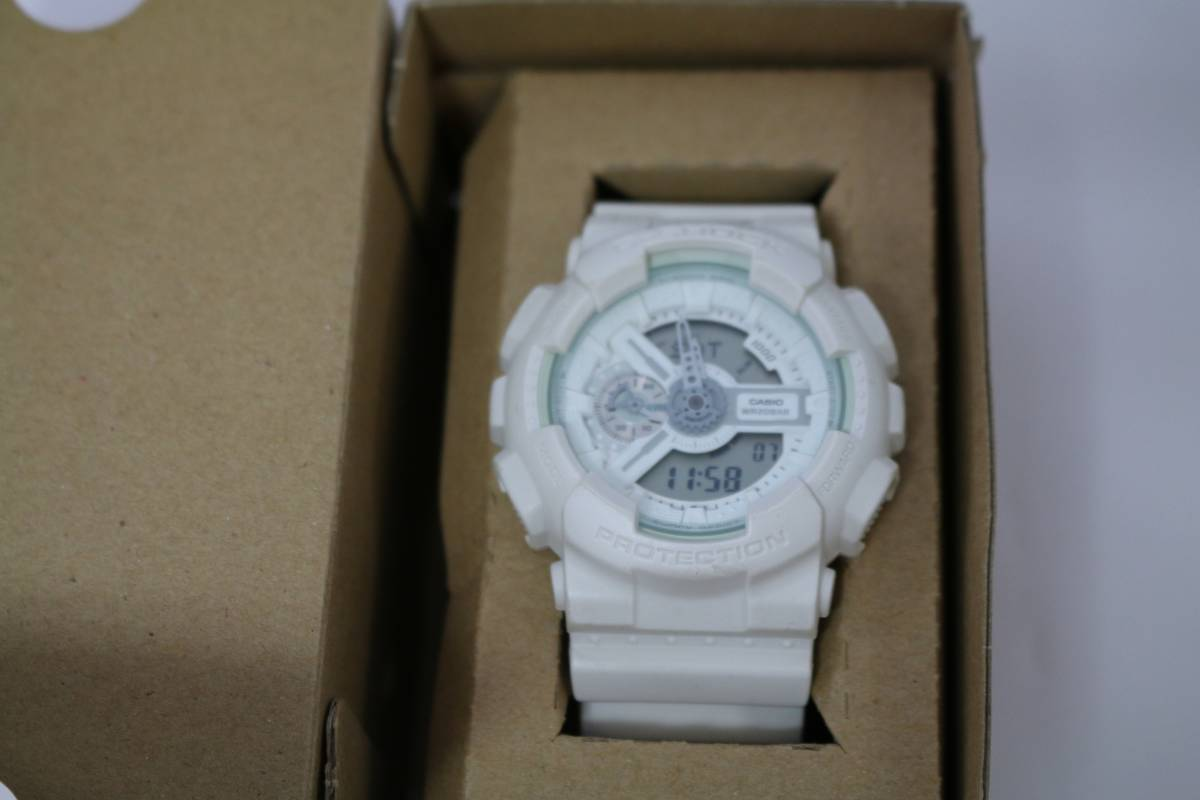 G Shock Ga 110bc 7ajf Digi Ana Wristwatch White Box Instructions