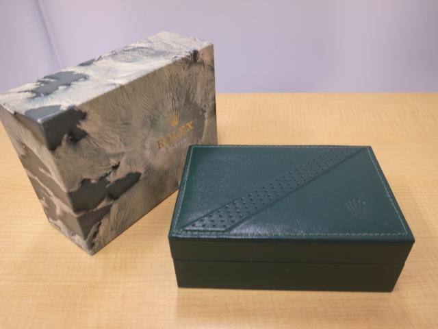 箱のみ☆ROLEXロレックス14010エアキング用空箱☆外箱、化粧箱、クッション付き