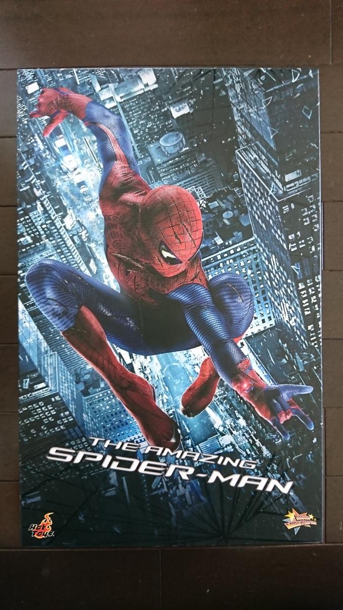 ホットトイズ スパイダーマン アメイジング・スパイダーマン1コスチューム フィギュア 1/6 中古 1円スタート