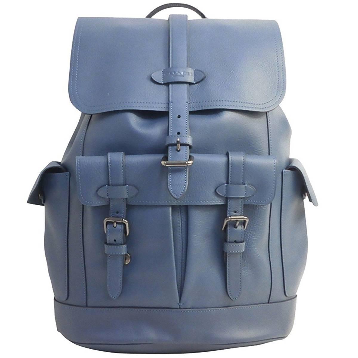 fa8ead02b50 new goods Coach F23202 Hudson leather backpack QBDEN Denim : Real ...