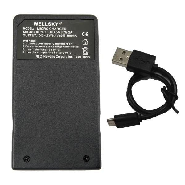 新品 Panasonic パナソニック VW-VBK180-K / VW-VBK360-K 用 USB 超軽量 急速 互換充電器 バッテリーチャージャー VW-BC10-K / VW-BC-10_純正品と同じように使用可能