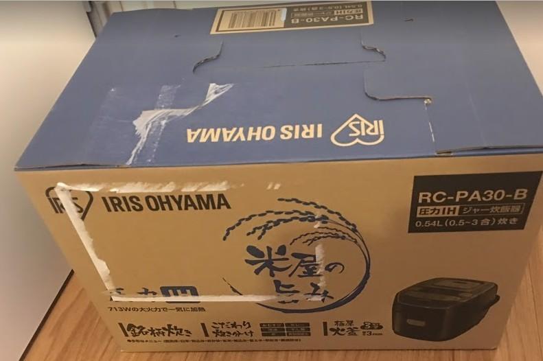 新品 アイリスオーヤマ 炊飯器 圧力IH式 3合 銘柄炊き分け機能付き 大火力 ブラック RC-PA30-B