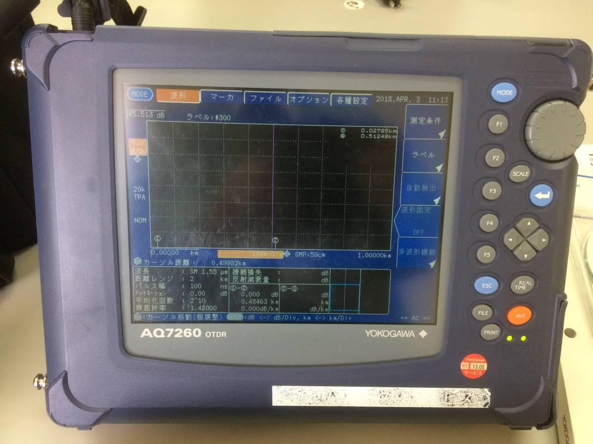 YOKOGAWA AQ7260 OTDR 光パルス試験器3波長 取扱説明書 ソフトウェア ACアダプター付