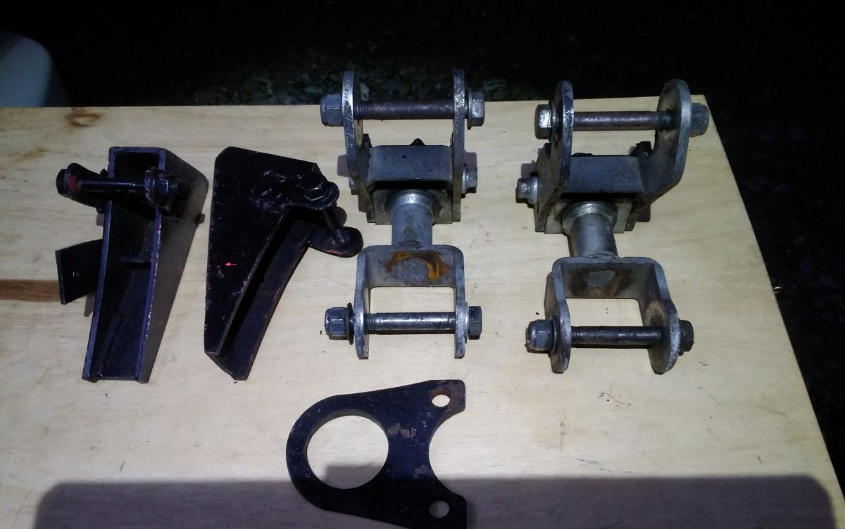 ジムニーja11リボルバーシャックル2個リア用2Dエルボーツイストシャックルja71sj30ピボットボットガード-牽引フックおまけ