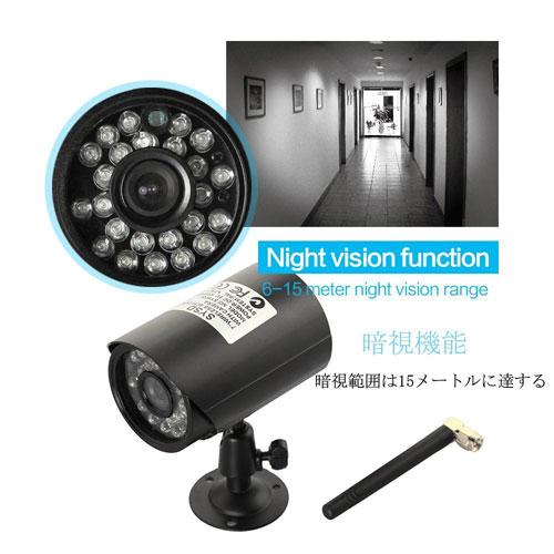デジタルワイヤレス防犯カメラ 7インチモニター付き 防水カメラ SDカードに録画 そのまま液晶で再生可能 GW-W8071_画像6