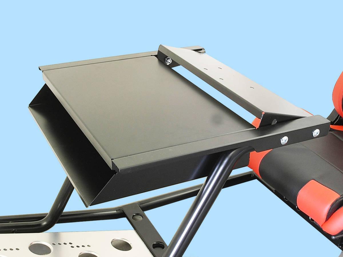 PS4 PS3 GTスポーツ ハンコン スタンド コックピットセット シート付 新品 国内生産品_オプションの本体収納&モニタースタンド