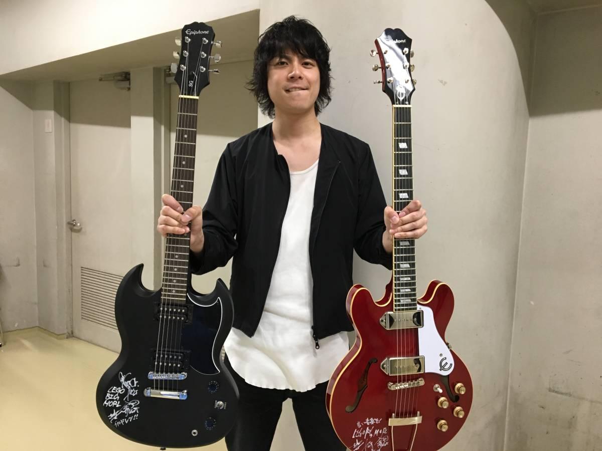 ROCKS FORCHILE 出演者全員のサイン入りギター(藤巻亮太、THE COLLECTORS、ホリエアツシ、GLIM SPANKY、LEGO BIG MORLなどのサイン入り)_画像8
