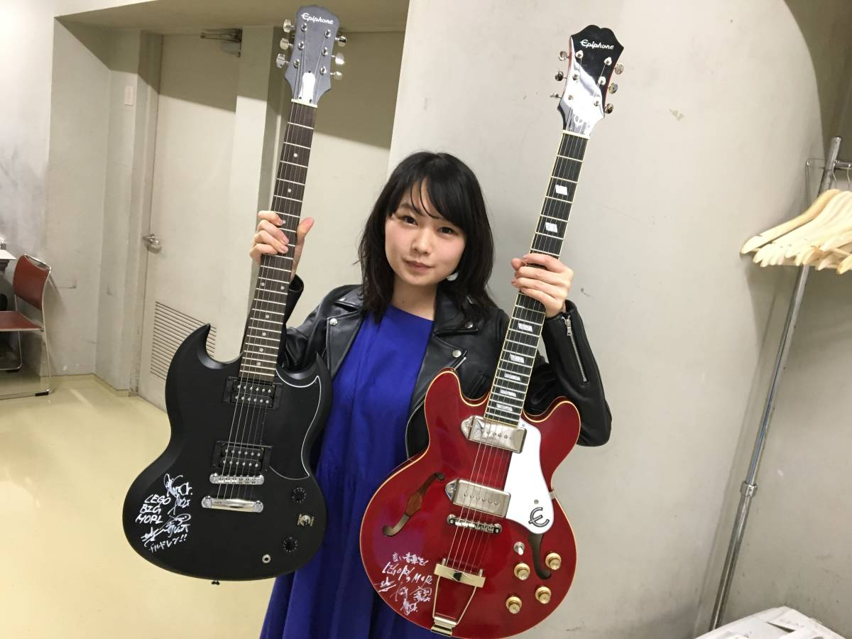 ROCKS FORCHILE 出演者全員のサイン入りギター(藤巻亮太、THE COLLECTORS、ホリエアツシ、GLIM SPANKY、LEGO BIG MORLなどのサイン入り)_画像10