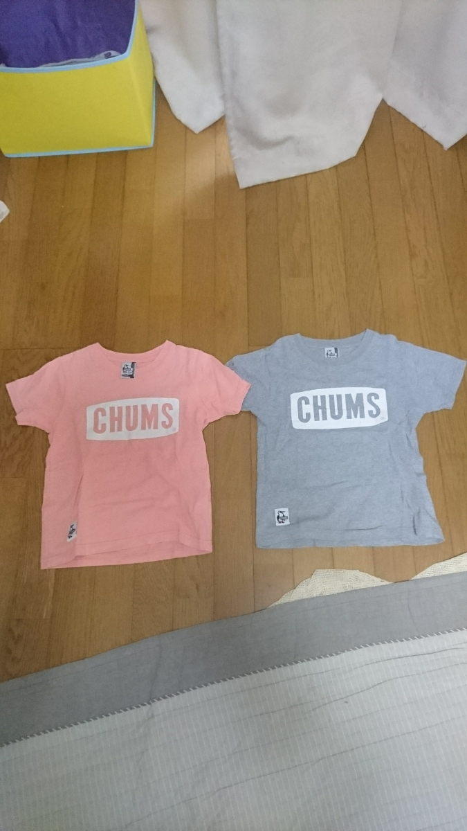 チャムスCHUMS Tシャツ 2枚セット 中古 120~130