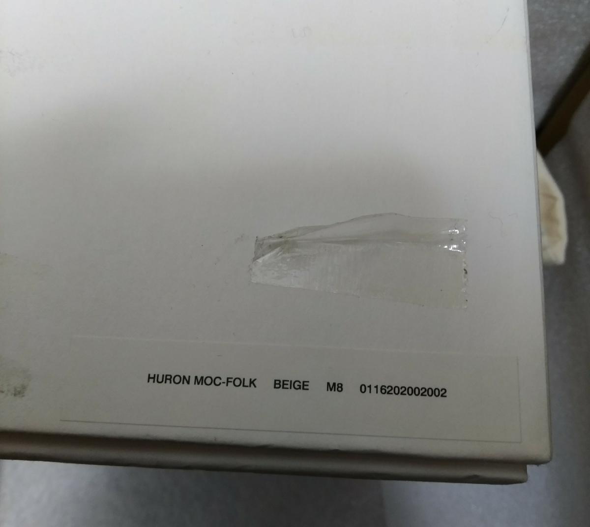 【新品】visvim HURON MOC-FOLK BEIGE M8 0116202002002 シューズ 靴_画像9