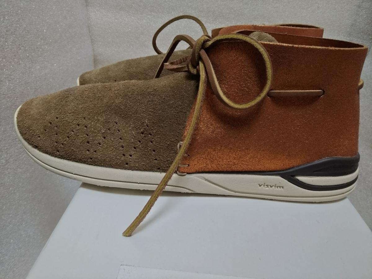 【新品】visvim HURON MOC-FOLK BEIGE M8 0116202002002 シューズ 靴_画像3