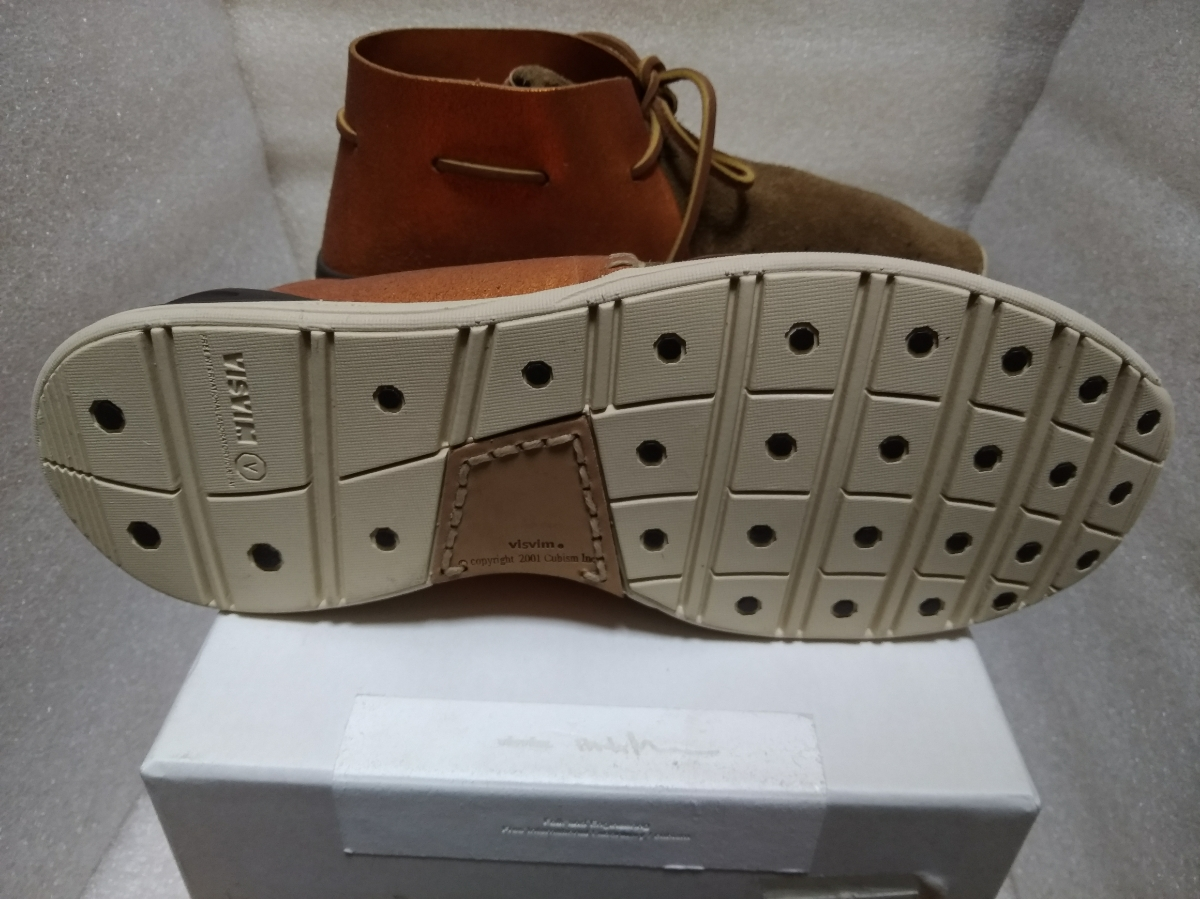 【新品】visvim HURON MOC-FOLK BEIGE M8 0116202002002 シューズ 靴_画像7