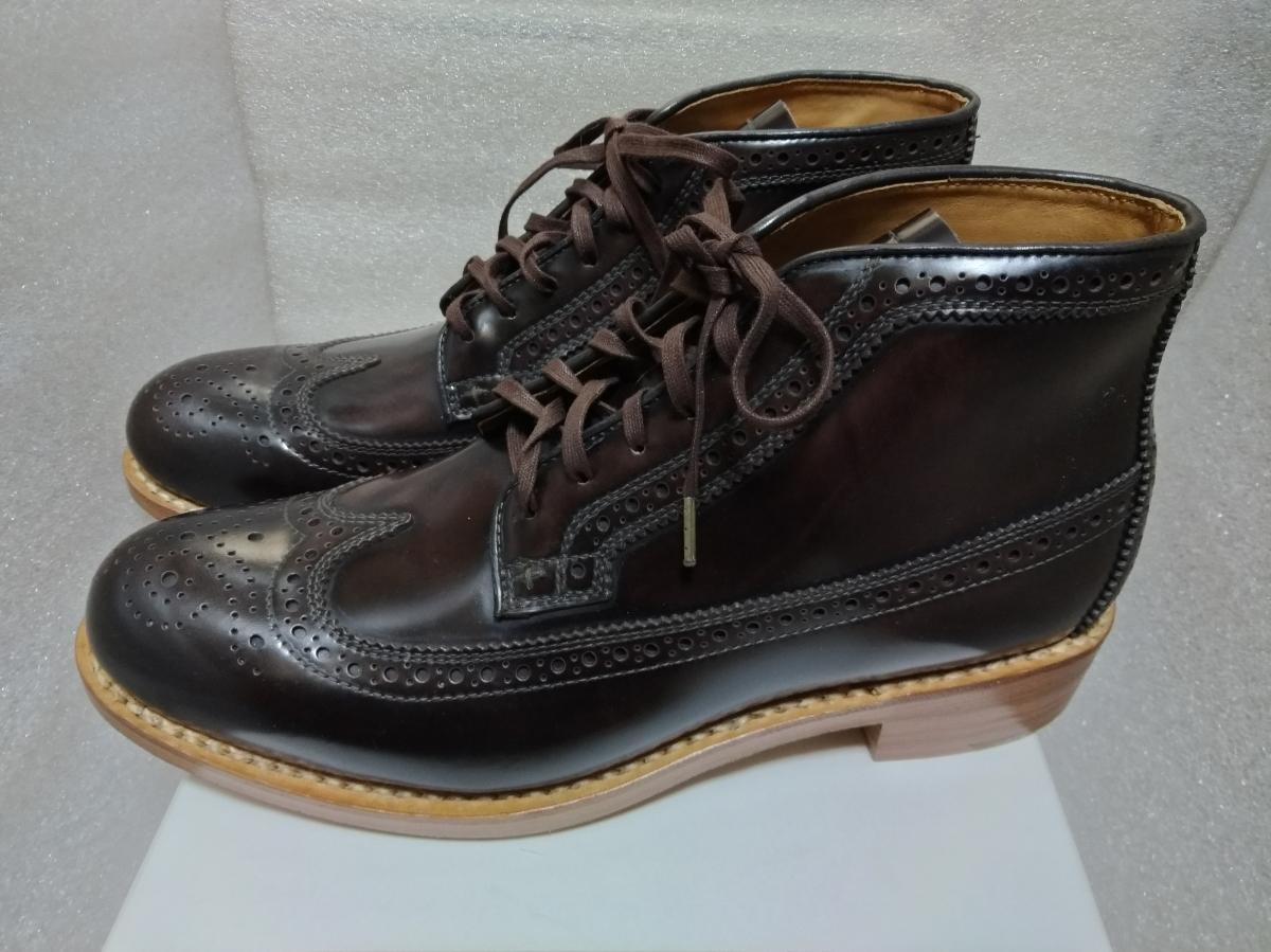 visvim patrician mid wt-folk 靴 ウィングチップ 27.5_画像4